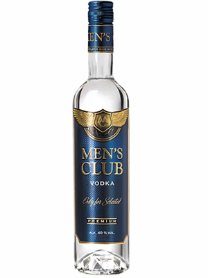 Vodka Mens Club 500ml, 40% Alc, 20/case