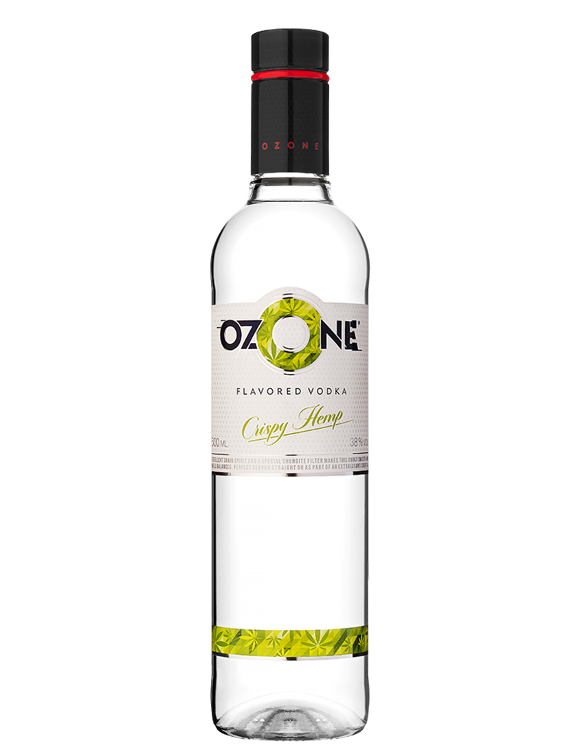 Vodka OZONE Crispy Hemp Flavoured 500ml, 38% Alc, 16 per box