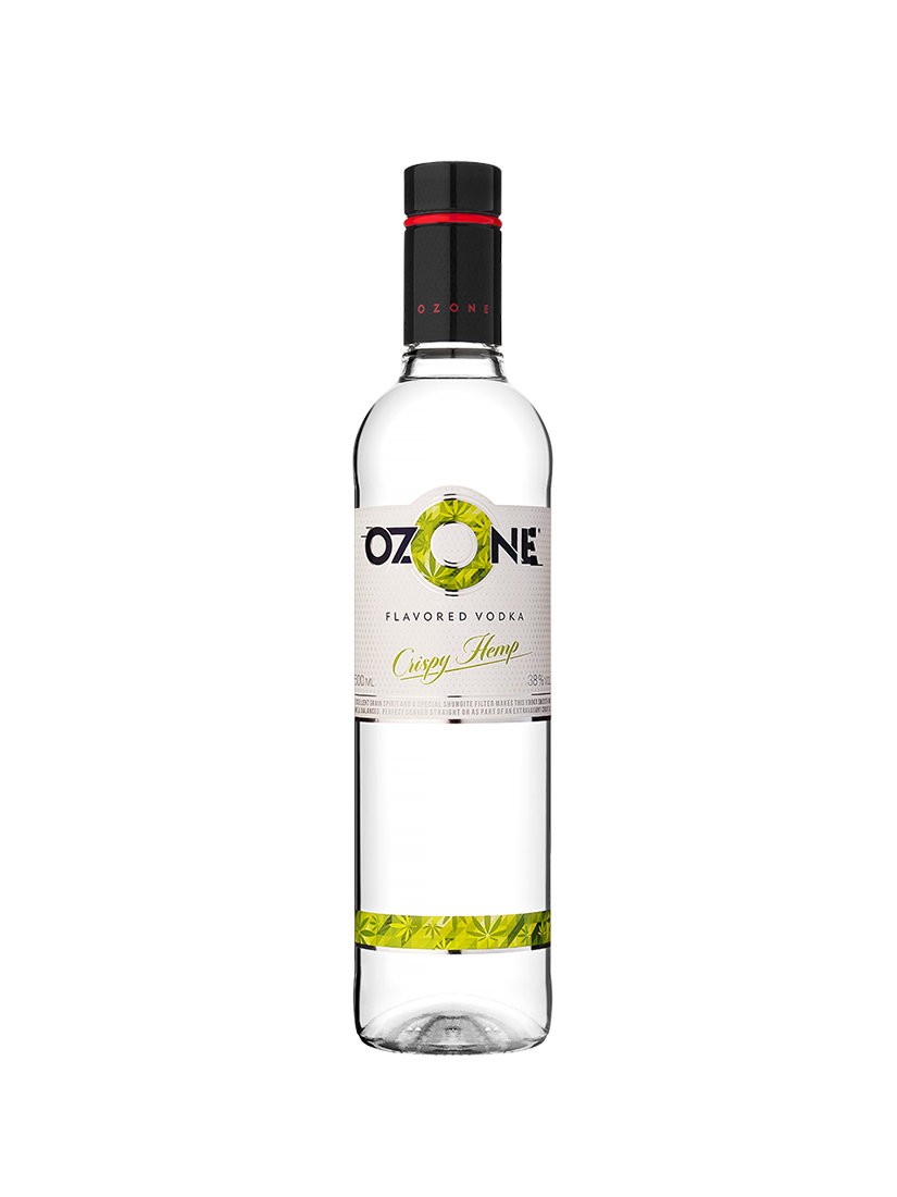 Vodka OZONE Crispy Hemp Flavoured 50ml, 38% Alc, 24 per box