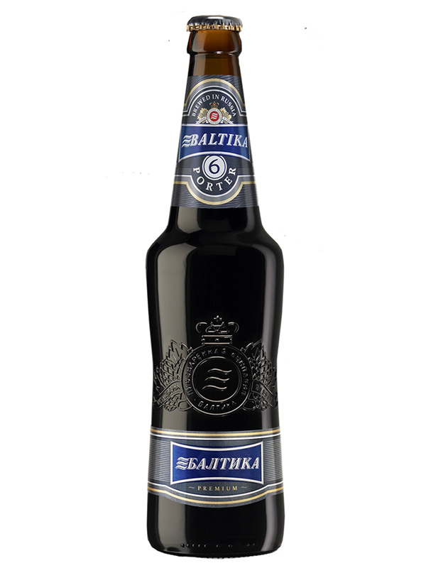 Beer Baltika 6, Bottle 470ml, 7% alc, 20/case