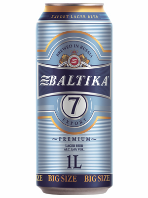 .Beer Baltika 7, Can 1L, 5.4% alc, 12/case