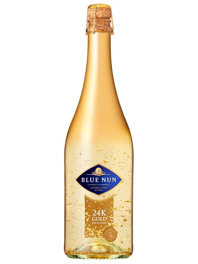 Sparkling Wine Blue Nun with 22 and 24 Carat Gold