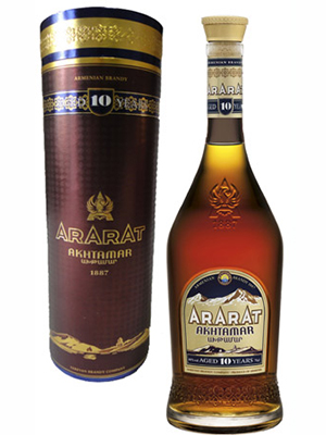 Brandy Ararat Akhtamar 10 Years 500ml, 40% Alc, single