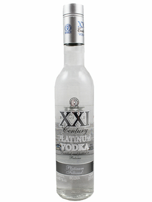Vodka XXI Century Platinum 500ml, 40% Alc, 20/case