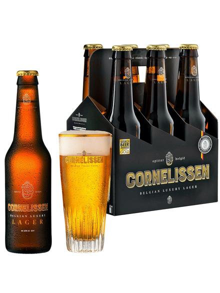 Beer Cornelissen Luxury Lager 5.5% Alc 330ml, 6-pack