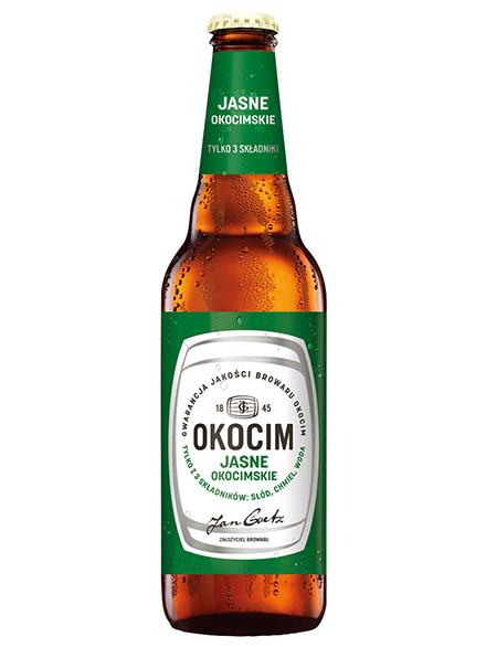 Beer Larger Okocim Bottle 5.2% 500ml, 20/case