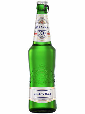Beer Baltika 0, Bottle 470ml, Non Alc, 20/case