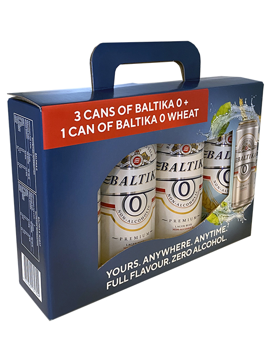 4-Pack Non-Alcoholic Baltika 0 450ml / Six 4-packs per box