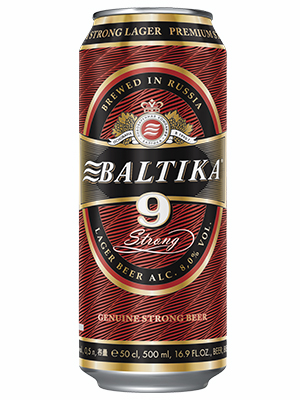 Beer Baltika 9 can 500ml, 8% Alc, 24/case
