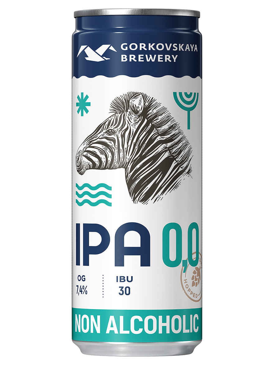 IPA 0.0 Gorkovskaya brewery 0% alc 330ml / 24 box