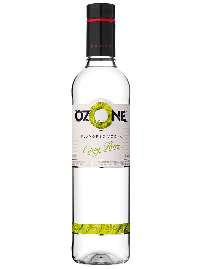 Vodka OZONE Crispy Hemp Flavoured 750ml, 38% Alc, 12 per box