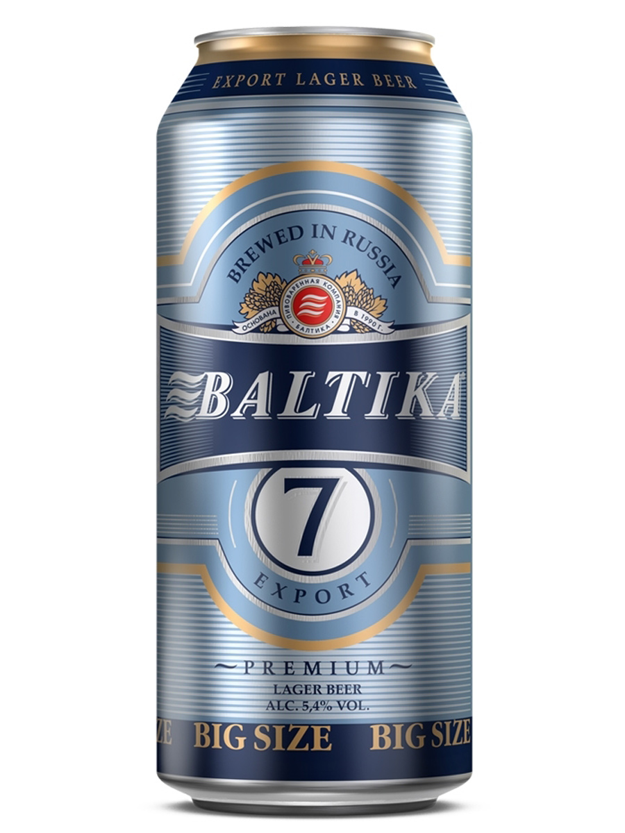 Beer Baltika 7, Can 900ml, 5.4% alc, 12/case