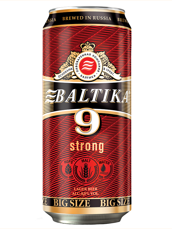 Beer Baltika 9 can 900ml, 8% Alc, 12/case