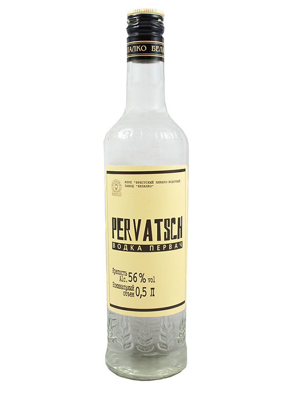 Vodka Pervatsch 500ml, 56% Alc, 20/case