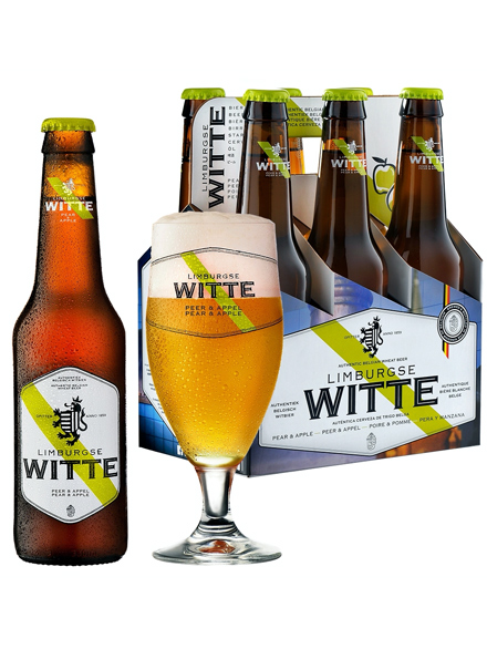 Beer Limburgse Witte Pear Apple 4.2% Alc 330ml, 6-pack, 4/case