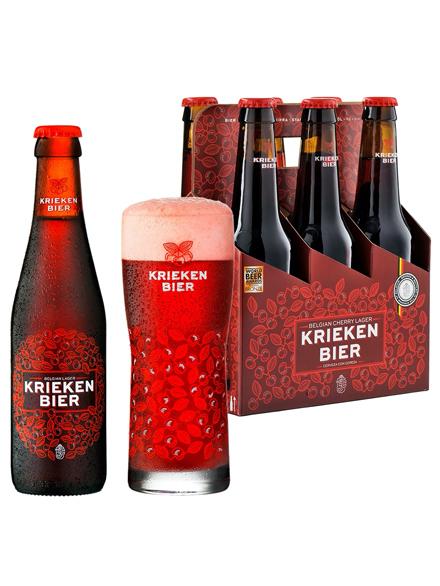Beer Kriekenbier Lager 4.5% Alc 330ml, 6-pack, 4/case