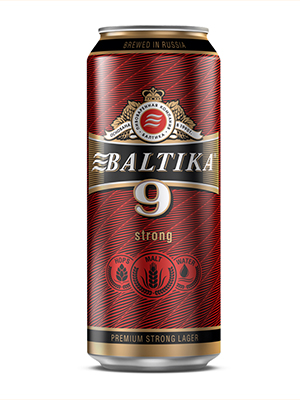 Beer Baltika 9 can 450ml, 8% Alc, 24/case