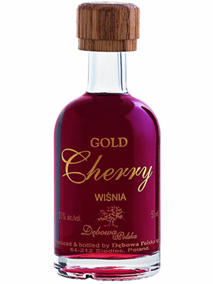 Liqueur Debowa Polska Gold Cherry miniature 30% 50ml, 24/case