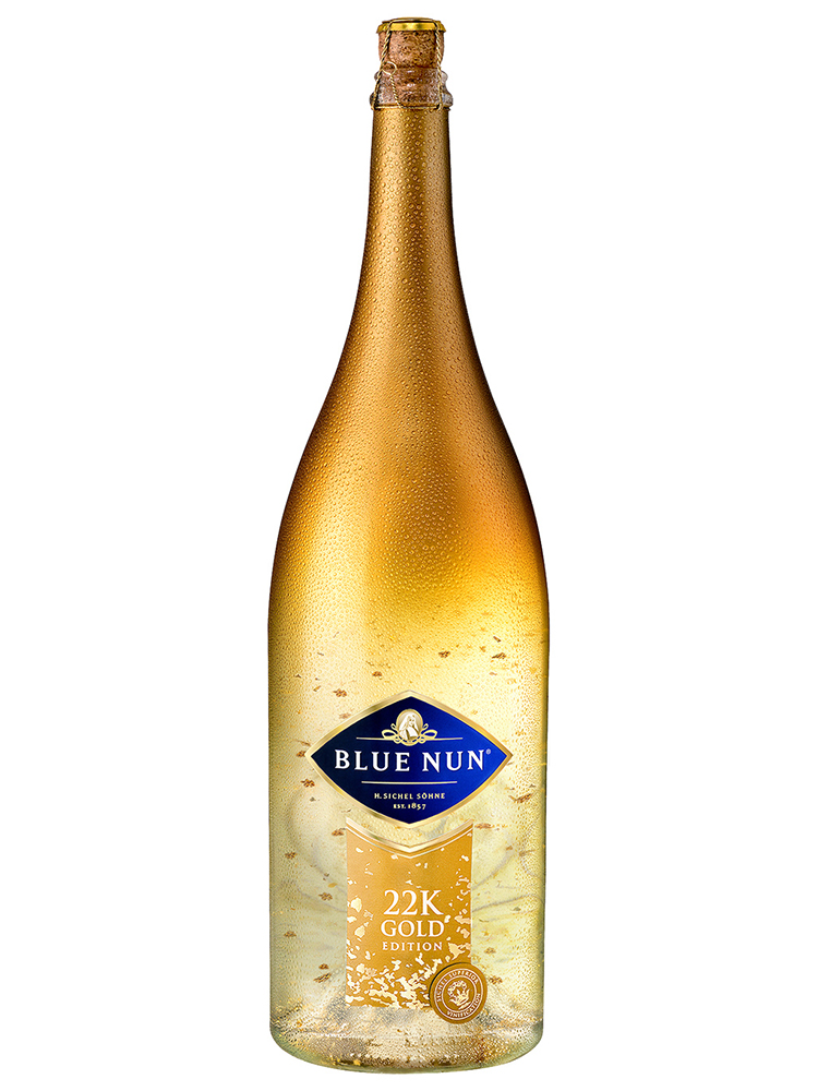 Sparkling Wine Blue Nun with 22 Carat Gold - 3L