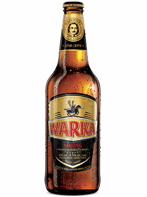 Beer Warka Strong 500ml, 6.5% Alc, 20 per box