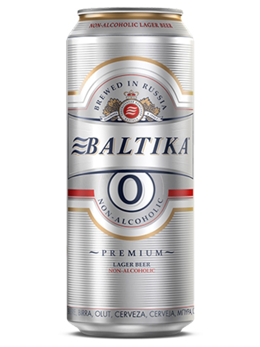 Beer Baltika 0, Can 450ml, Non Alc, 24/case