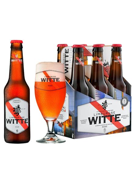 Beer Limburgse Witte Rose 3.5% Alc 330ml, 6-pack, 4/case