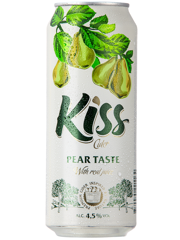 Cider Kiss Pear taste 500ml, 4.5% Alc, 24 per box