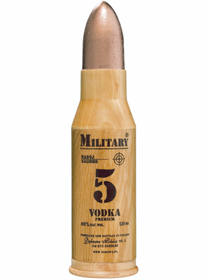 Vodka Debowa Polska Military miniature 50ml, 40% Alc, 24 per box