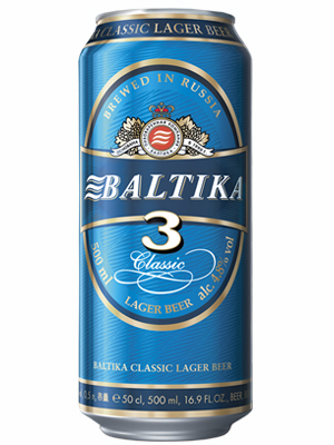 Beer Baltika 3, Can 450ml, 4.8% alc, 24/case
