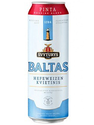 Beer Baltas 568ml, 5% Alc, 24 per box