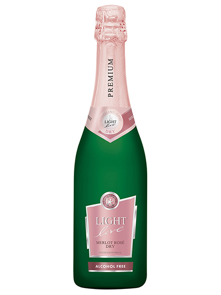 Wine Merlot Rose Sparkling Alcohol Free PREMIUM 750ml - 6/case