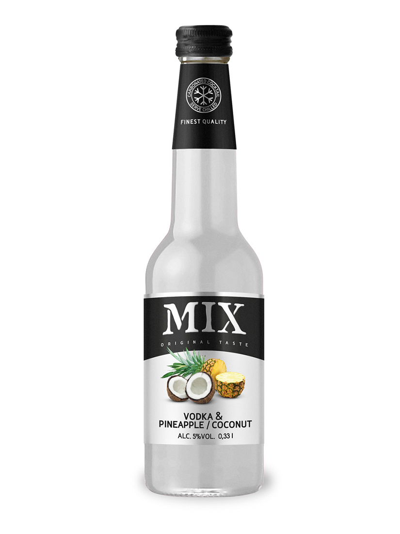 Cocktail MIX Vodka & pineapple and cocnut 300 ml, 5% Alc, 12 per box