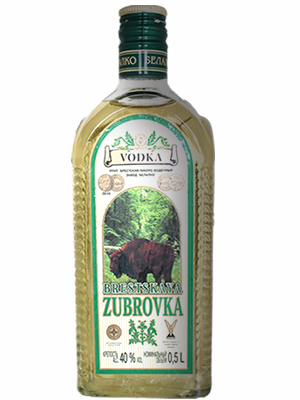 Vodka Zubrovka 500ml, 40% Alc, 15/case