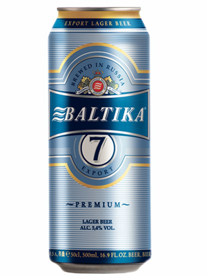 Beer Baltika 7, Can 450ml, 5.4% alc, 24/case
