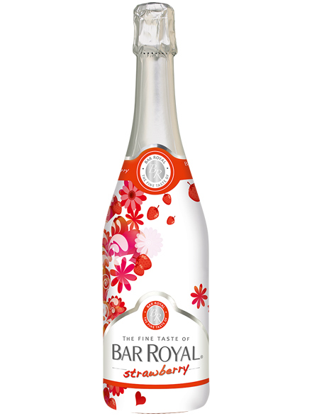 Strawberry wine cocktail Bar Royal 3.9% Vol 750ml - 6 per case